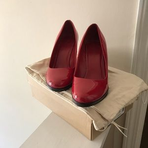 Cole Haan Margot Red patent Leather Wedge pumps